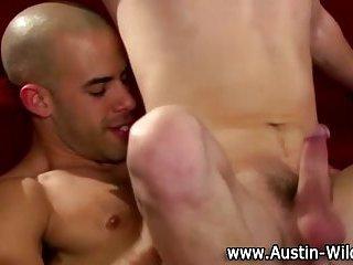 Hot gay Austin Wilde fucks tight ass