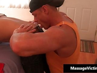 Hot and horny dude gets the massage of his life