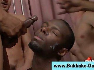 Black amateur dude cumshot