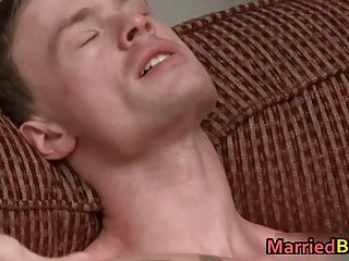 Hot married straight stud riding gay cock