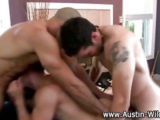 Orgy gays spit roast naughty gay