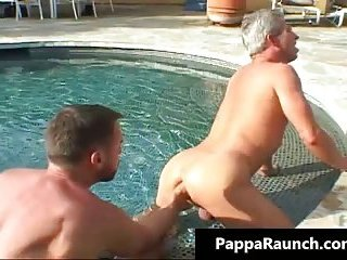 Hot body sexy men gets his white big tight ass fist fucked hard