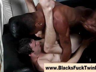 Watch twink cum for black cock