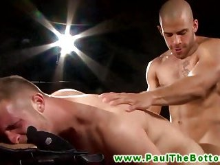 Bottom stud gets anal from his gay pornstars hard dick