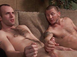 Hot body builders handjob & blowjob