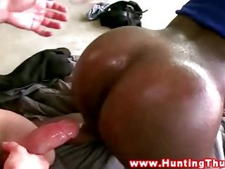 Massive thugs white dick cumshot over his tight butt