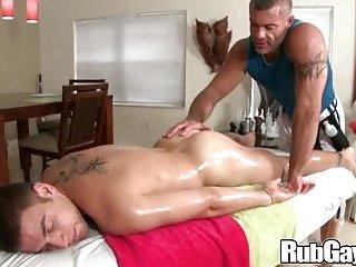 Rubgay twink gets sensual dildo fucking