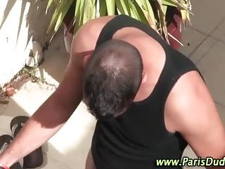 Outdoor blowing french dudes