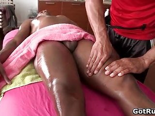 Intense gay butt fuck with two aroused dudes
