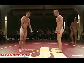 Four Kombat with Hard Cocks Wrestling for Domination