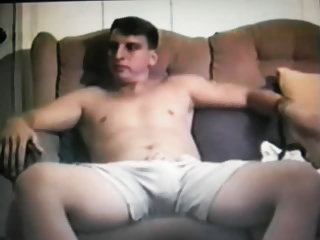 Straight guy takes his shorts of to show his huge cock