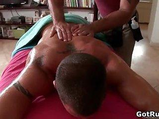 Ripper gay stud gets hot rimming