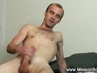 religious hunk cums jerking off solo