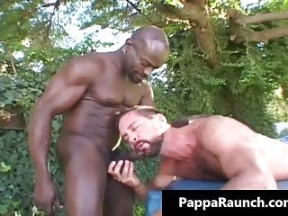 Great black gay dude gets his black cock sucked