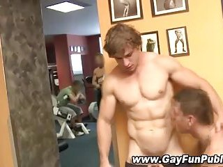 Hunk Gets Sucked Off In Public
