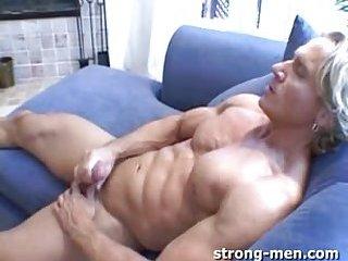Beefy Gay Guy Solo Masturbation