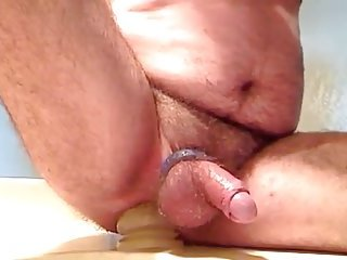 Amateur Stud Dildoing His Ass