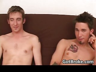 Pretty and very broke heterosexual men perform gay sex