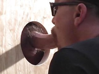Filthy Guy Sucking Cock In Gloryhole