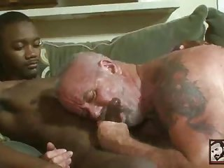 Hot Mature Dude Sucking Cock