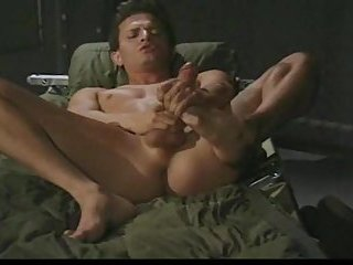 Horny Guy In Uniform Beating Off