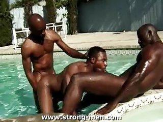Black gays trio outdoor