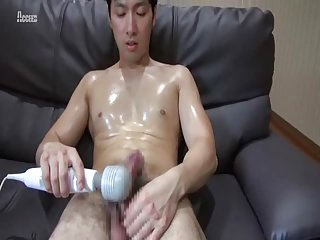 Handsome sports boy hot solo