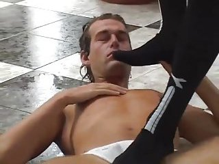 Guy Gets Humiliated & Fucked In Threesome