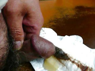 Japanese old man erect penis Close-up slide show