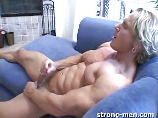 Cute Blond Solo Guy Whacking Off