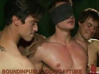 Horny Gay Guys Forced To Suck In Gangbang