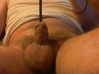 Horny Amateur Stuffing His Urethra