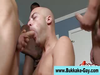 Nasty Guy Gets Treated In Gangbang