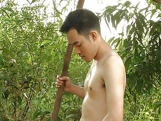 Asian Boy Outdoor