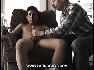 Teen chap gets handjob and blowjob