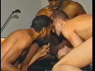 Naughty black guy gets ass fucked