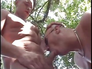 Nasty Gay Couple Outdoor Fuck
