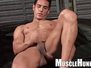 Handsome Beefy Guy Jerking Off