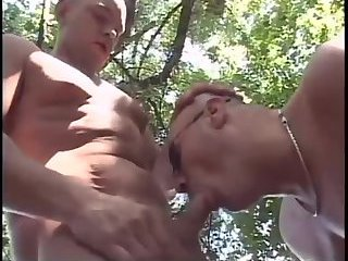 Mature dudes doggy style sex outdoor
