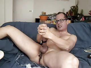 Mature Stud Stuffing His Cock