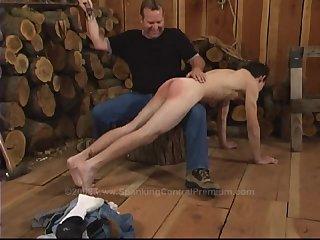 Hot Gay Guy Gets His Third Spanking