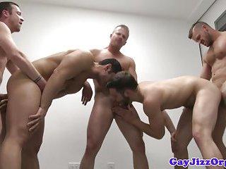Muscular hunks fucking bum boys