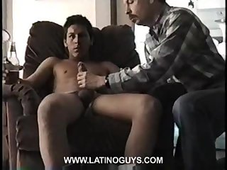 Gay big cock jerked and sucked