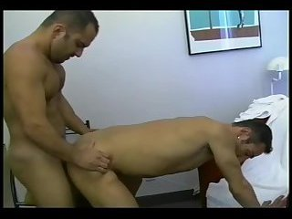 Two men doggy style sex