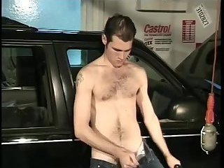 Gay fingering his hairy ass