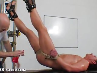 Nasty Stud Gets Hard Bondage Session