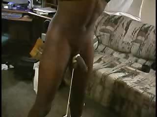 Black dude tied to pole