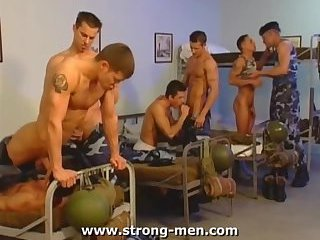 Military dudes orgy