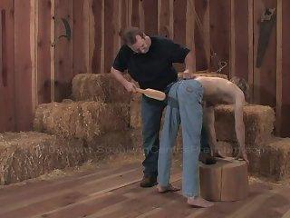 Farm boy spanking part three