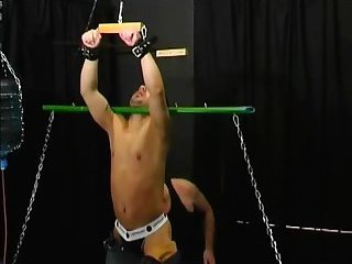 Fetish gay gets his cock jerked off